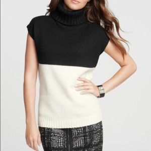 NWT Ann Taylor Cowl Neck Colorblock Sweater